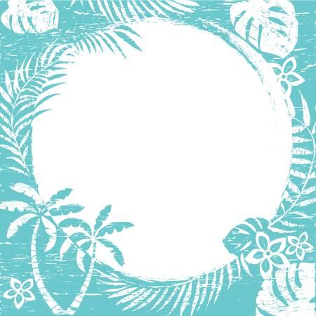 tropical plant: Resumen de fondo de frontera tropical grunge  ilustraci�n de vectores