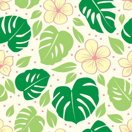 repetition: tropical seamless floral background