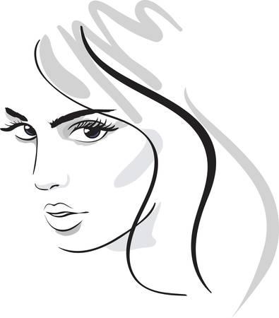 beauty girl face. design elements. Stock Vector - 9445670