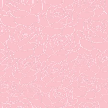 abstract seamless roses background. Colorful vector illustration Vector