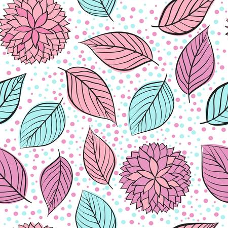 abstract flowers: Abstract beauty seamless floral pink vector background Illustration