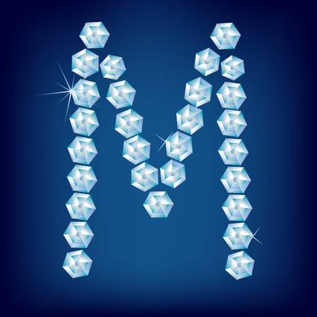 Vector Diamond alphabet. Title letter. Title letter. Stock Vector - 9605915