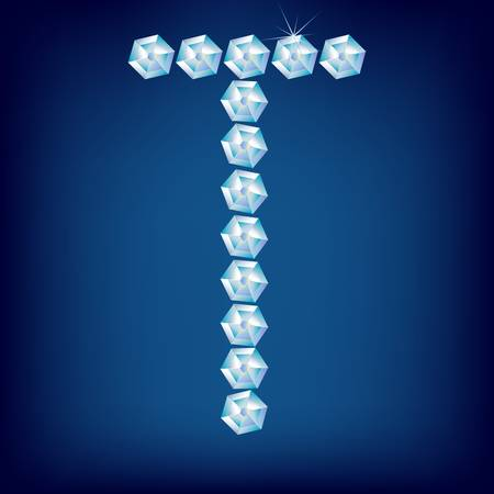 Vector Diamond alphabet. Title letter. Title letter. Stock Vector - 9605802