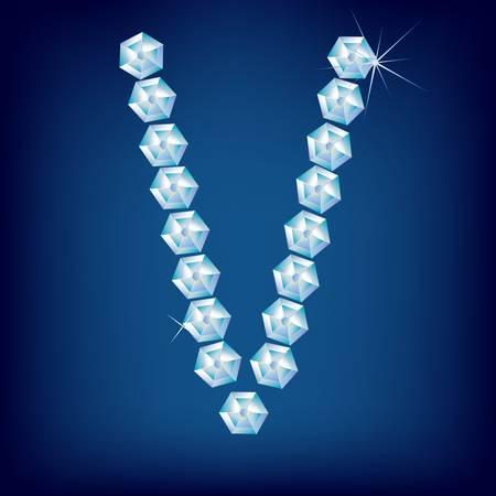 Vector Diamond alphabet. Title letter. Title letter. Stock Vector - 9605901