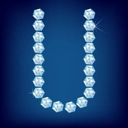 Vector Diamond alphabet. Title letter. Title letter. Stock Vector - 9605801