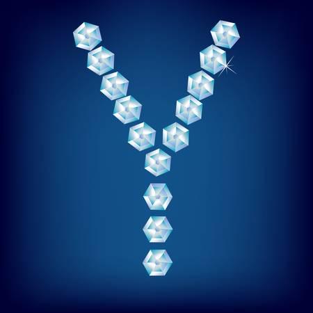 Vector Diamond alphabet. Title letter. Title letter. Stock Vector - 9605897