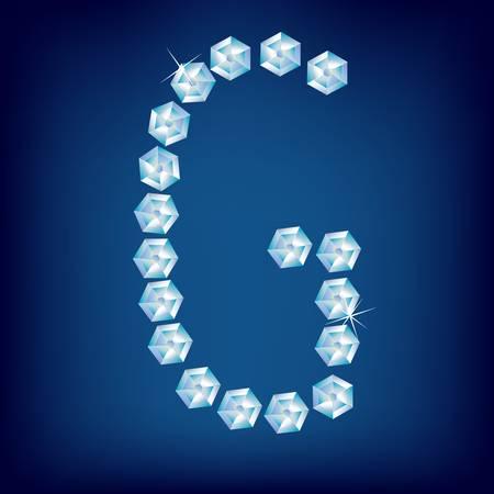 Vector Diamond alphabet. Title letter. Title letter. Stock Vector - 9605905