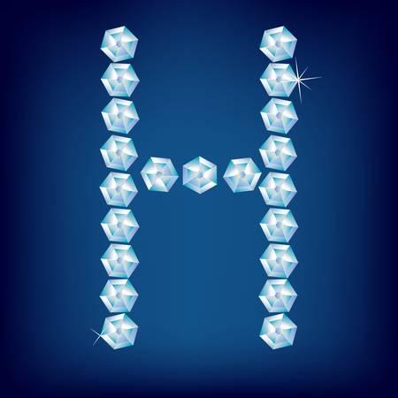 Vector Diamond alphabet. Title letter. Title letter. Vector