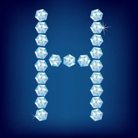 Vector Diamond alphabet. Title letter. Title letter. Vector