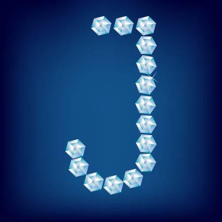 Vector Diamond alphabet. Title letter. Title letter. Stock Vector - 9605899
