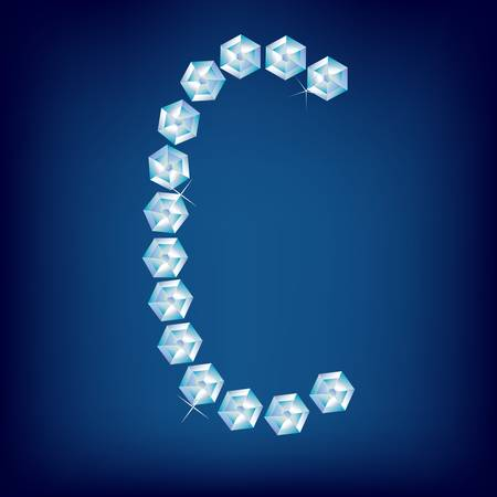Vector Diamond alphabet. Title letter. Title letter. Stock Vector - 9605898