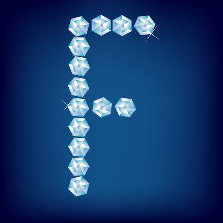 Vector Diamond alphabet. Title letter. Title letter. Stock Vector - 9605896