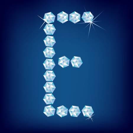 Vector Diamond alphabet. Title letter. Title letter. Stock Vector - 9605914