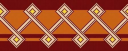 mexican art: tre colori della decorazione etnica. Vector illustration