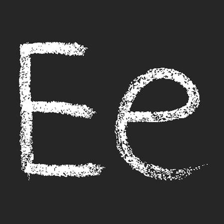 pencil or charcoal chalk alphabet letter. Vector Vector