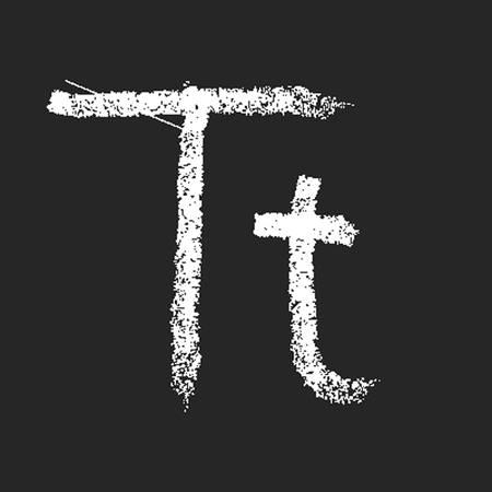 pencil or charcoal chalk alphabet letter. Vector