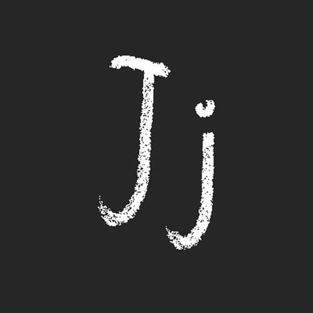 pencil or charcoal chalk alphabet letter. Vector Vector