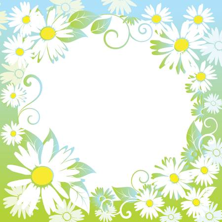 funny spring floral border. Colorful vector illustration Stock Vector - 9709903