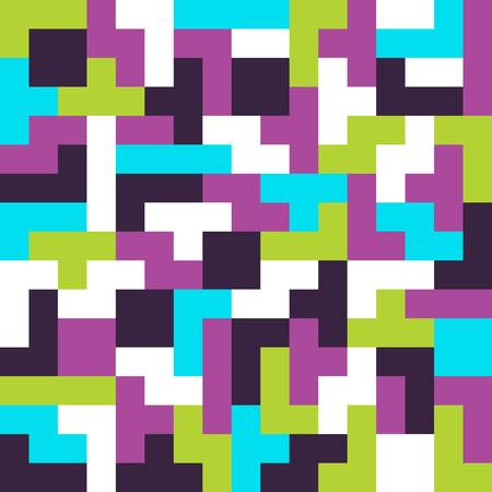 Seamless background. Tetris game pieces fit together Vector