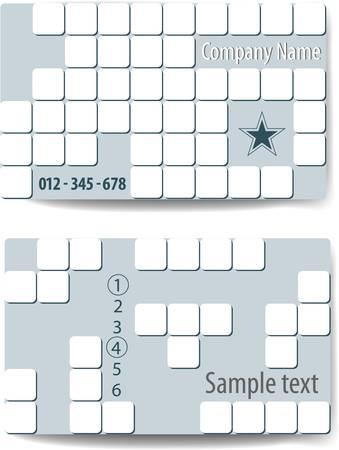 tetris: Tetris style Business card