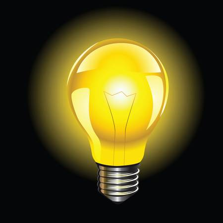 bulb light: isolated bulb lamp colorful illustration