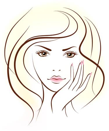 portrait of woman face Stock Vector - 9818343