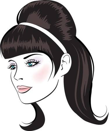 face woman(20).jpg Stock Vector - 9929954