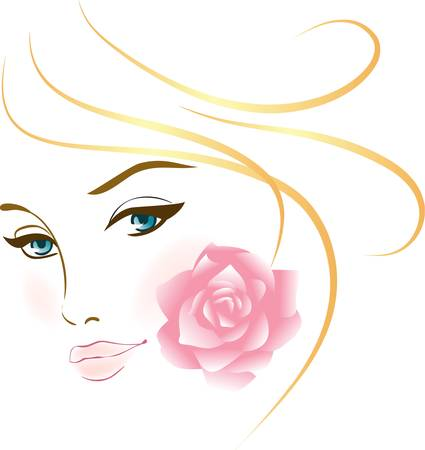 beauty face girl portrait . elements for design Stock Vector - 9947794