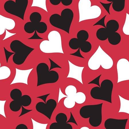 Playing cards. Seamless background. Colorful vector illustration. Vector