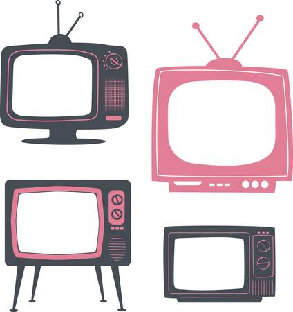 stylish retro tv set  Stock Vector - 10059618