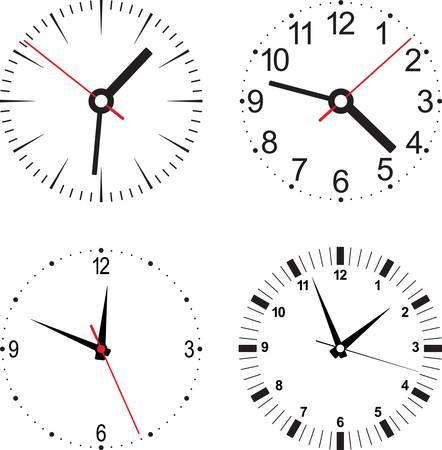 reloj de pared: reloj. Objeto aislado. Vectores