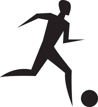 running man. stylish sport sign.  Vector