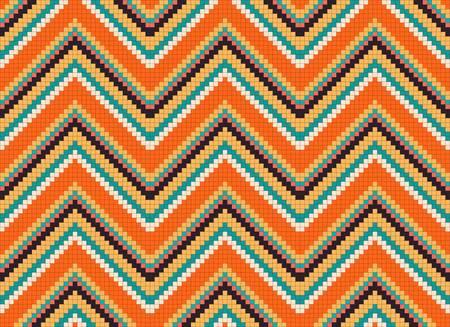 mexican art: senza soluzione di continuit� ornamento etnico astratta. Illustrazione vettoriale colorato