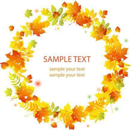 Autumn leaves background. Colorful illustration Illustration