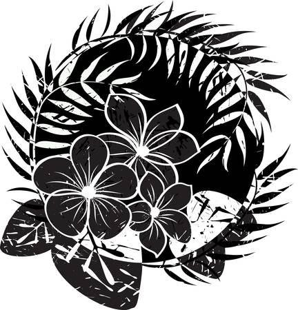 ibiscus: Fiore sfondo astratto grunge. Abstract illustrazione