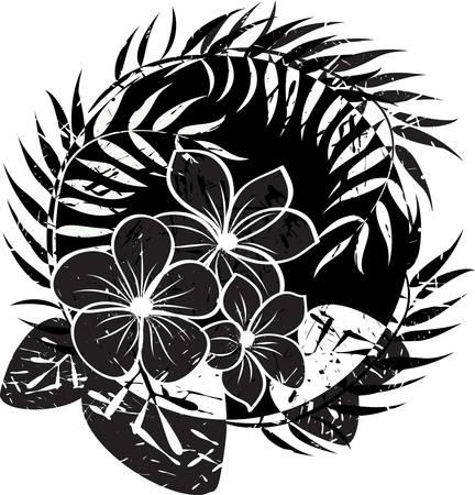hibiscus: Flor resumen de antecedentes grunge. Resumen ilustraci�n