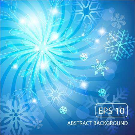 snoflake: abstract christmas background with snowflakes illustration Illustration