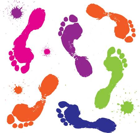 footprint: Foot print isolated on white. Vector illustration.