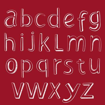 Hand drawing alphabet. design element set. Stock Vector - 11409811