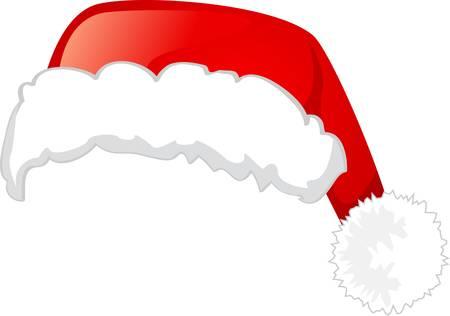 web2: Santa Claus hat, Isolated On White Background, Illustration
