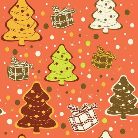 Seamless traditional christmas background. Stock Vector - 11671472