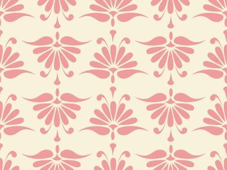 seamless pink flower pattern.