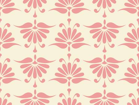 seamless pink flower pattern.  Vector