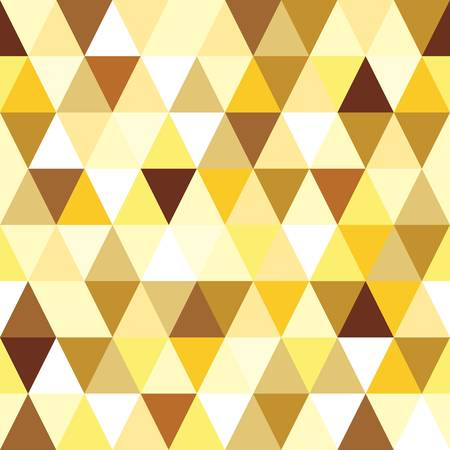 gold seamless triangle abstract pattern.  Vector