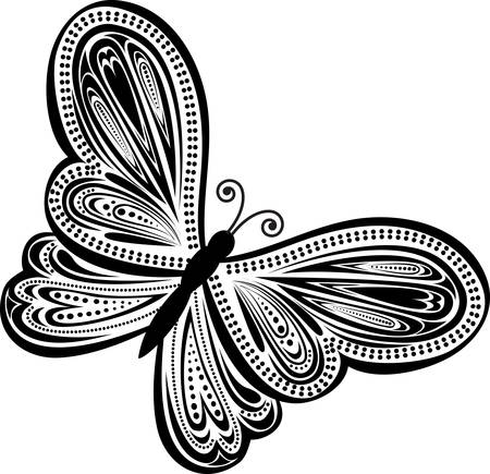 butterfly: abstract butterfly. Abstract illustration Illustration