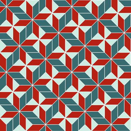 seamless retro geometric abstract pattern. Colorful illustration Vector