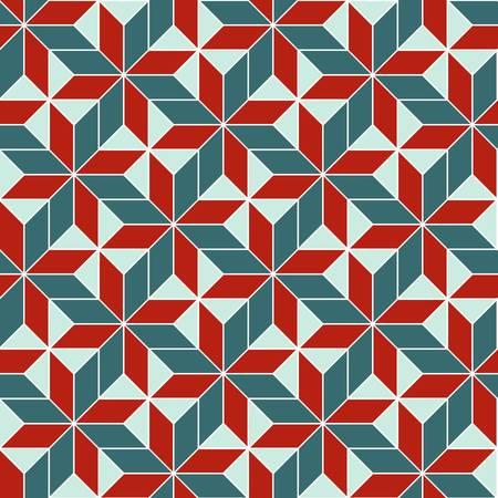 multi ethnic: seamless retro geometric abstract pattern. Colorful illustration