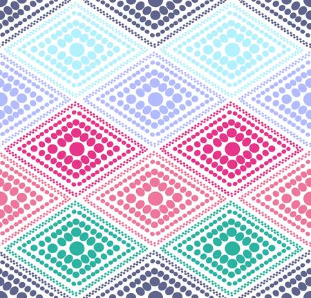 abstract color dot geometric pattern. Colorful illustration Vector
