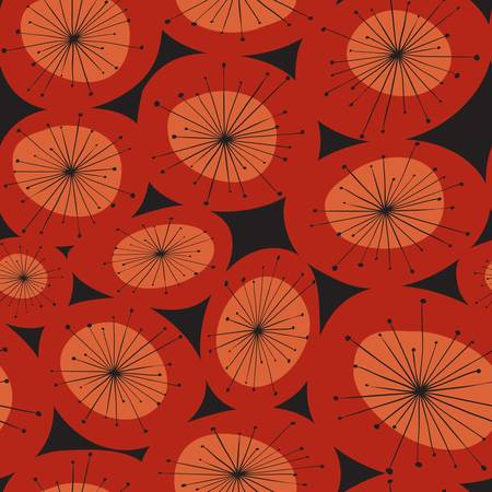 abstract red flower pattern. Colorful illustration Vector