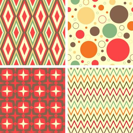 repetition: Abstract geometric pattern set  Colorful illustration Illustration